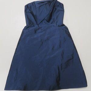 Alfred Sung Gown Dress Sz 6 Strapless Sateen Blue